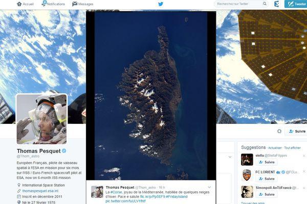 Le clin d'oeil de l'astronaute Thomas Pesquin à la Corse