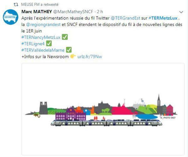 Copie d'écran compte Tweeter Marc Mathey SNCF