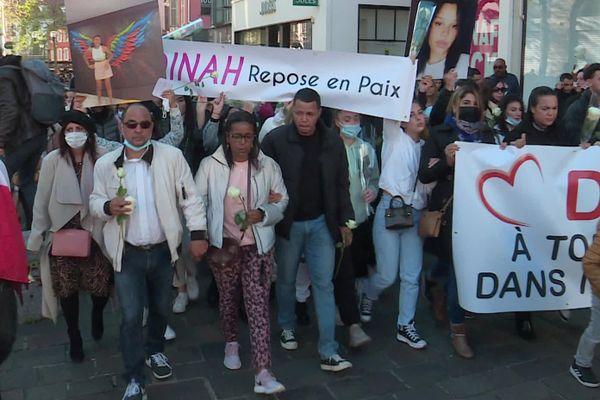 Une marche blanche rendait hommage à Dinah dans les rues de Mulhouse le 24 octobre.