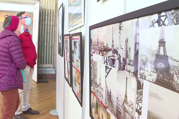 Une partie de l'expositions consacrée à Gustave Eiffel.