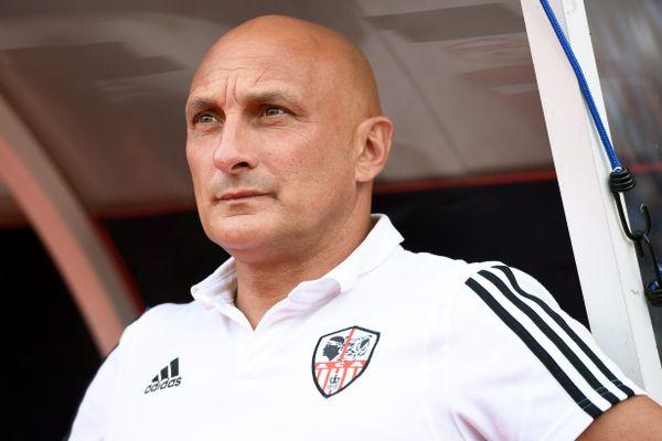 Olivier Pantaloni, l'entraîneur de l'AC Ajaccio.