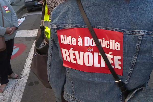 """""""Aide à domicile et révoltée"""", pouvait-on lire jeudi 23 septembre 2021 à Ganges, dans l'Hérault."""