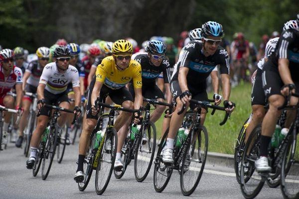 Le peloton du Tour de France, jeudi 19 juillet 2012