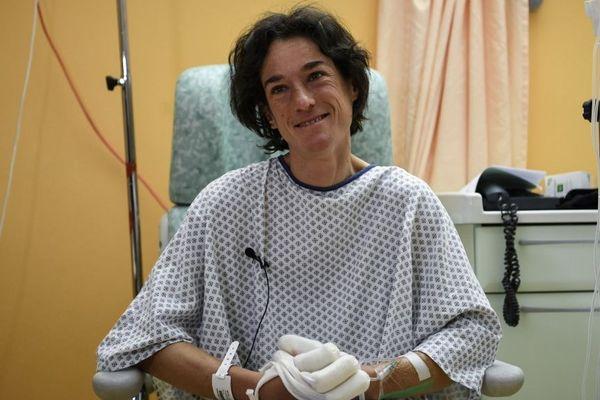 Elisabeth Revol à l'hôpital de Sallanches le 31 janvier 2018.