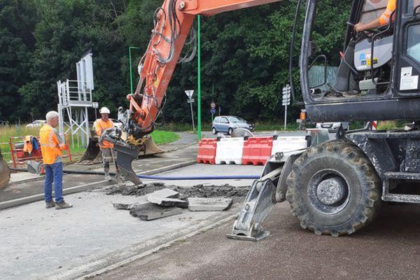 Montivilliers : début des travaux le 4 juillet 2021 après la rupture d'une canalisation d'eaux usées.