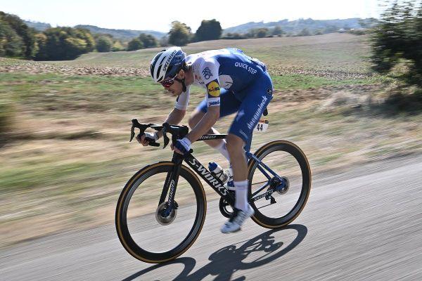 """Le """"TGV de Clermont-Ferrand"""" Rémi Cavagna a disputé l'épreuve du contre-la-montre des Mondiaux de cyclisme vendredi 25 septembre sur le circuit d'Imola en Italie."""