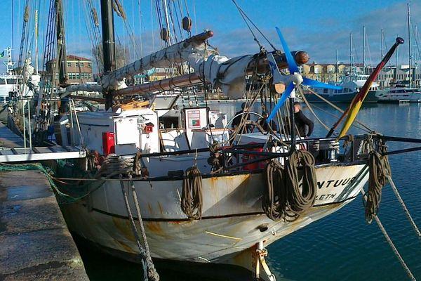 Le bateau Avontuur est arrivé à La Rochelle le 25 décembre dernier.