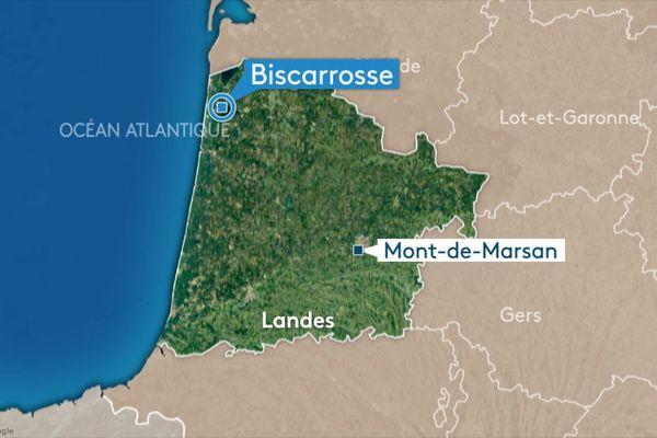 L'accident a eu lieu à Biscarrosse dans les Landes, sur la route de Parentis