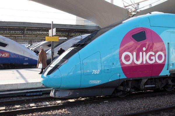Un train reliant Marne-la-Vallée à Marseille à l'arrêt à Lyon