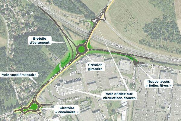 Echangeur RD 2060 de Chécy (Loiret) : les gros travaux vont commencer