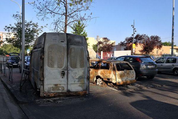 Plusieurs carcasses toujours sur place, plus d'un mois après les émeutes