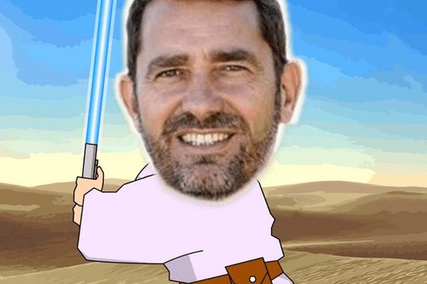 Christophe Castaner grimé en Luke Skywalker, le héros de la trilogie originale.