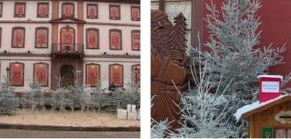 Un calendrier de l'Avent avec ses 24 surprises, prêtes à être dévoilées et une boîte aux lettres pour les messages au Père Noël
