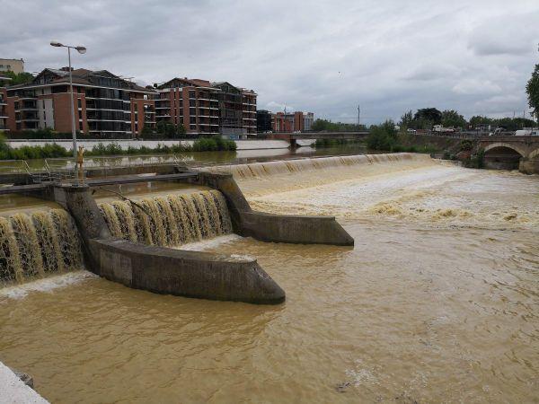 La Garonne au pont Saint-MIchel à Toulouse