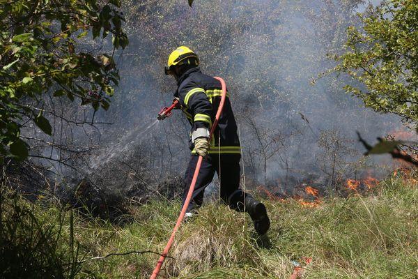 Les feux de broussailles sont courant cet été en région Provence-Alpes-Côte d'Azur.