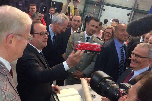 François Hollande à Avallon.