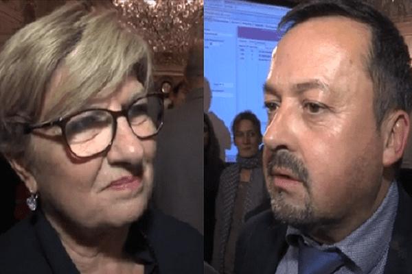 Eliane Giraud et Yannick Neuder, les têtes de liste PS et LR en Isère.