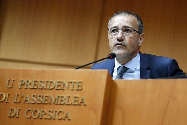 Jean-Guy Talamoni à l'assemblée de Corse