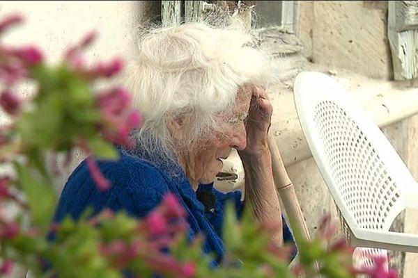 Geneviève Callerot en août 2018, à 102 ans l'agricultrice romancière résistante vient de recevoir la légion d'honneur