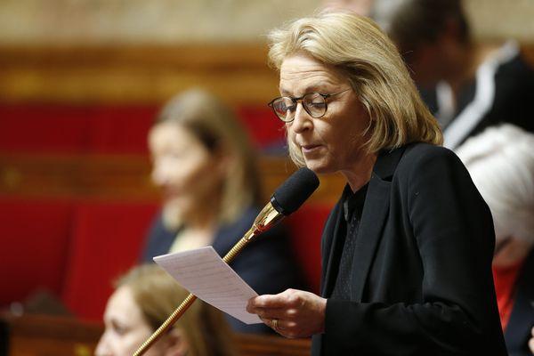 La députée d'Eure-et-Loir lors d'une séance de questions au gouvernement. Photo d'illustration