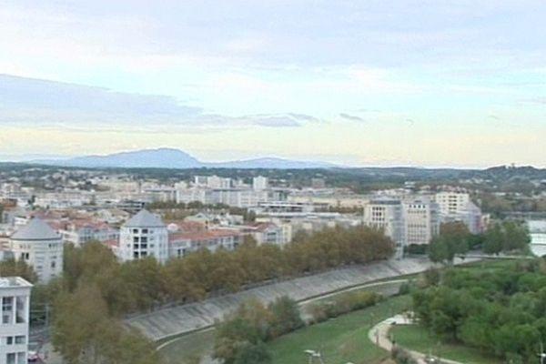 Montpellier - la ville vue du nouvel Hôtel de ville - 2012