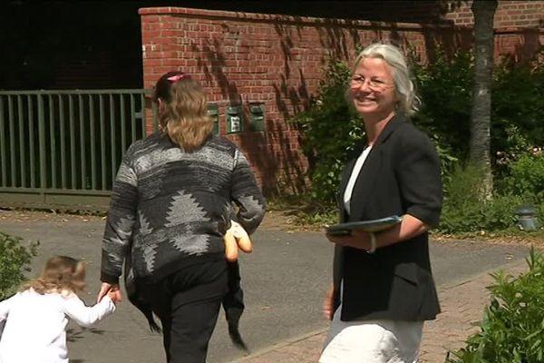 Agnès Thill en 2017, alors en campagne pour les législatives.