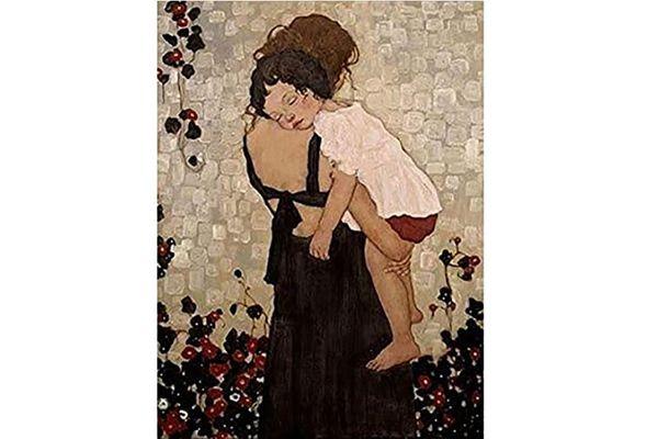 """Gustav Klimt """"Femme Tenant Enfant"""", tableau original"""