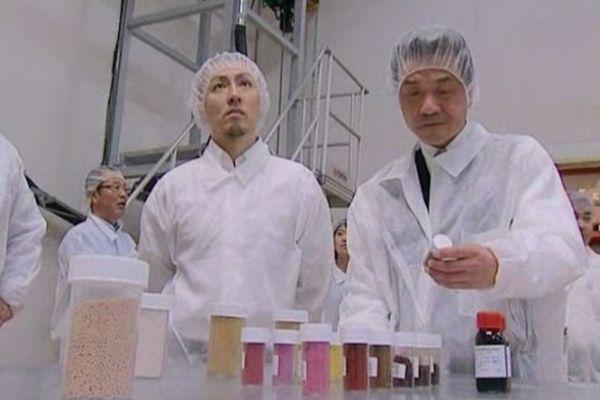 Délégation japonaise chez le fabricant de cosmétiques Alban Muller (Eure-et-Loir)