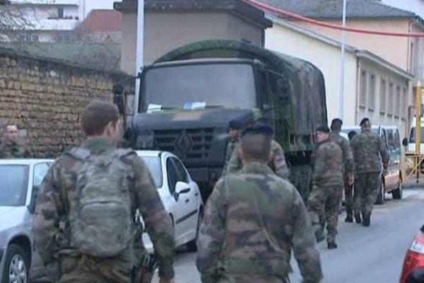 Déploiement de militaires en Saône-et-Loire