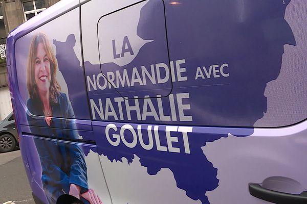 Le véhicule de campagne de Nathalie Goulet pour les Régionales