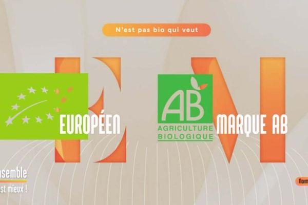 Le logo européen et le logo de la marque AB (agriculture biologique)