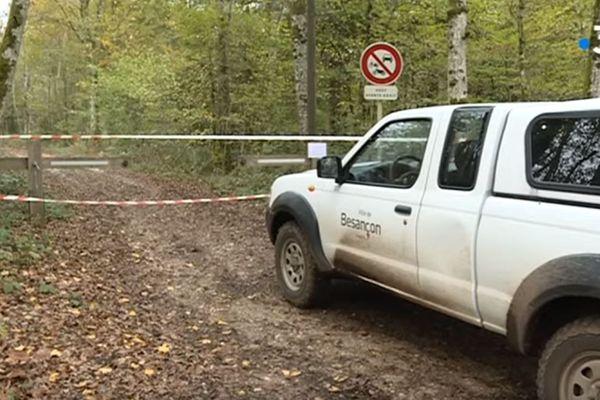 Les accès à la forêt de Chailluz sont interdits depuis le 31 octobre 2019.