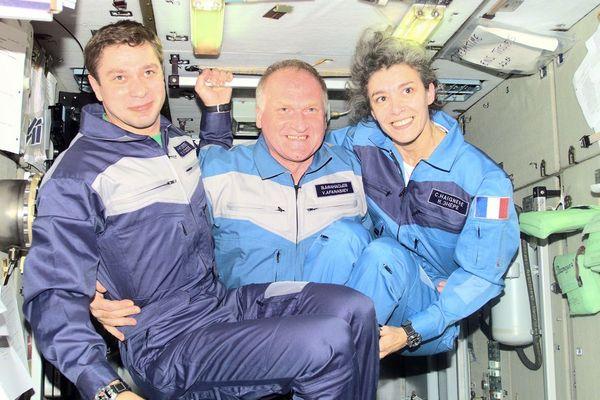 Claudie Haigneré à bord de la Station spatiale internationale (1996)