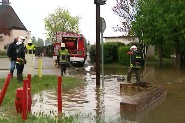 Inondations à Appoigny, le 1er mai dernier (crue de l'Yonne)