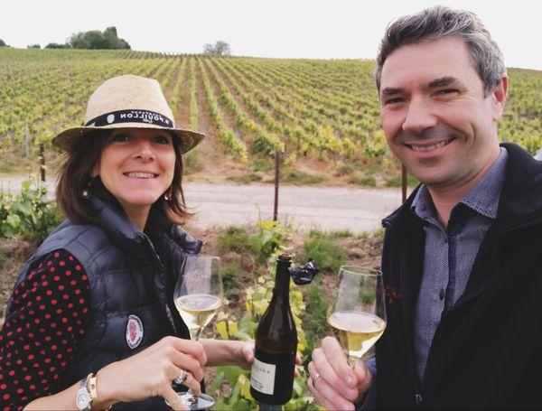 Fabrice et Bénédicte Pouillon, vignerons à Mareuil-sur-Ay, veulent dévelloper la digitalisation pour faire face à la crise.