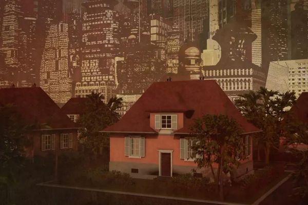Roses et pimpantes, les maisons de la cité-jardin Ungemach proposent une vision futuriste de la vie humaine ?