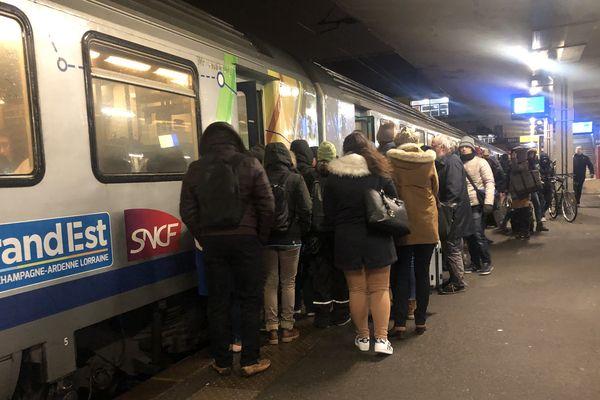En gare de Strasbourg début décembre 2019.