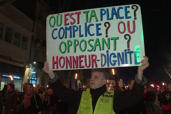 Montpellier - Eric est de toutes les manifestations - 30 janvier 2020.