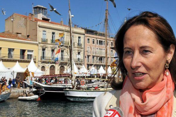 Ségolène Royal à Sète, dans l'Hérault, pour Escale à Sète - 26 mars 2016