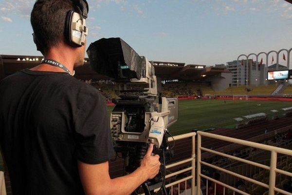 Le stade Louis II toujours sous le feu des caméras.