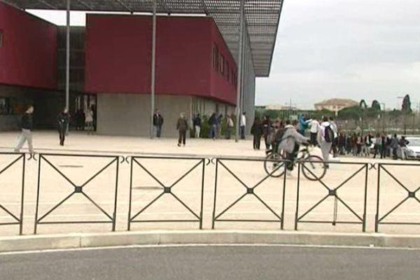 Le collège Rabelais, dans le quartier Malbosc, à Montpellier.