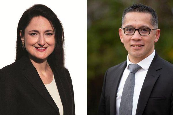 Christelle de Cremiers et Francis Cammal, candidats aux municipales de Gien en 2020