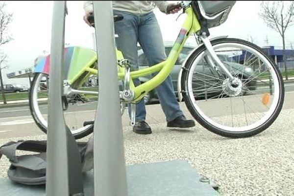 Les vélos en libre service à Belfort