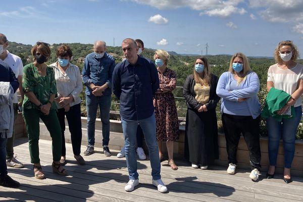 Jean-Christophe Angelini entouré de ses colistiers de Pà Portivechju