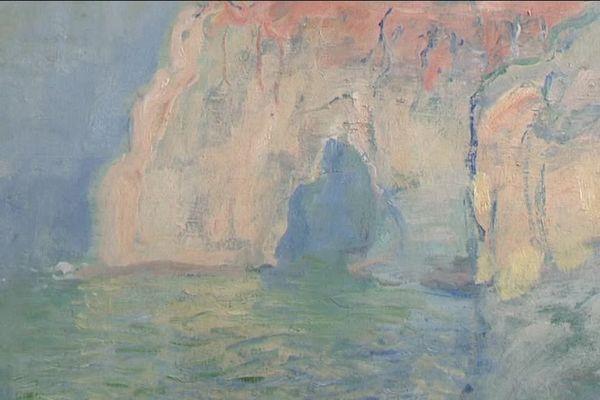 Etretat, la Manneporte de Claude Monnent au Musée des Beaux Arts de Caen