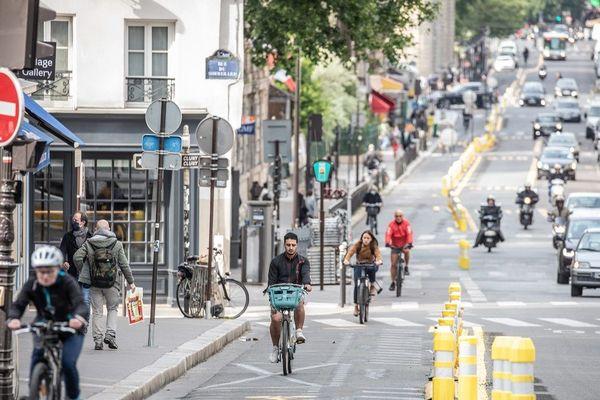 Les coronapistes,les nouvelles voies de vélo ouvertes lors du déconfinement.