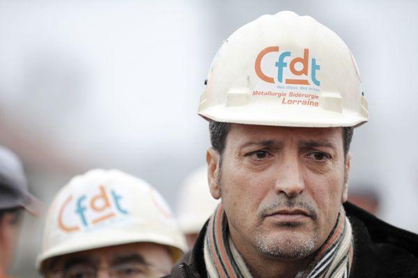 L'eurodéputé Mosellan Edouard Martin, à l'époque où il était syndicaliste CFDT chez ArcelorMittal (Archive. février 2009)