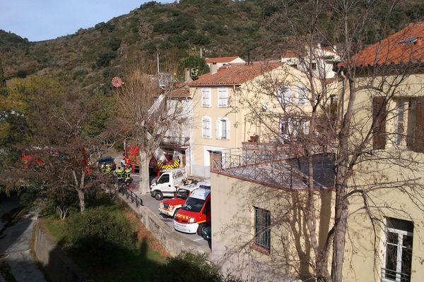 Le village de Rasiguères dans les Pyrénées-Orientales, théâtre d'un drame familial. 30/12/2013