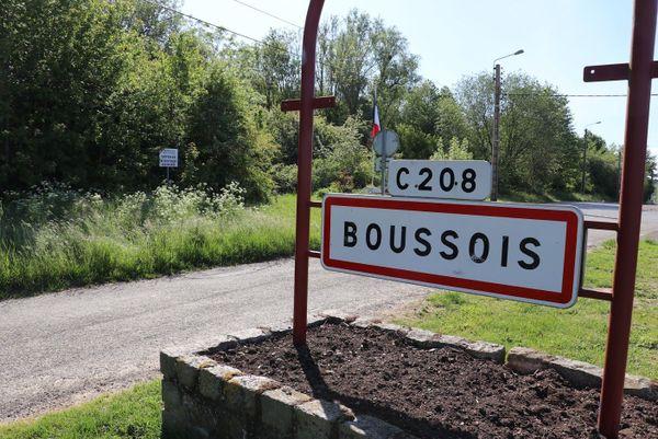 Entrée de la commune de Boussois, à proximité de l'ancien fort.