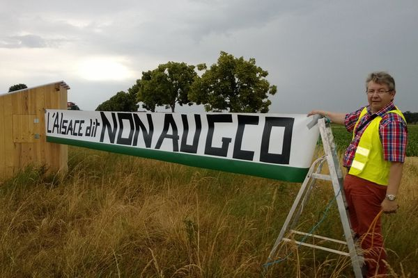 La manifestation anti-GCO samedi matin, au rond-point entre Duppigheim et Duttlenheim
